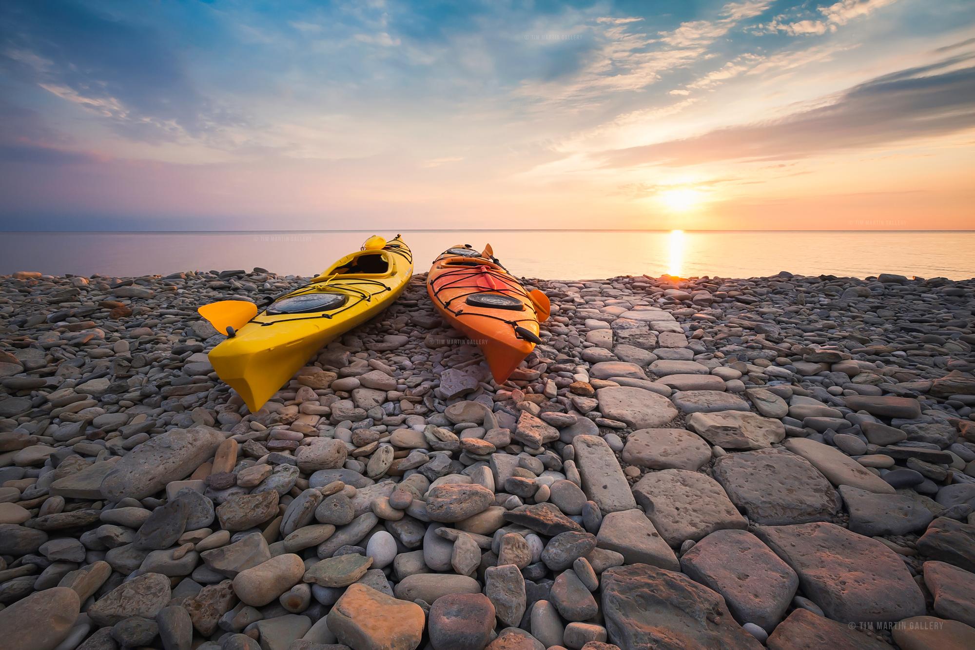 "Limited Edition Fine Art Photography ""Rocky Shore Sunrise"" Tim Martin"